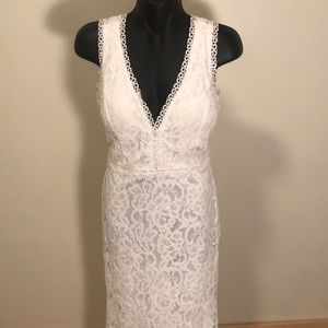 Soieblu white lace gown